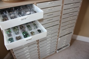 I Use The Triple Large Bead Storage Organizer From Legacy Storage Systems.  This Is A Phenomenal System! The Cabinet Drawers Are Removable And  Interlock When ...