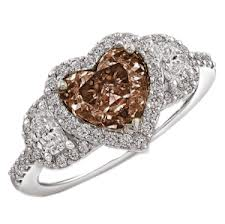 Heart-shaped Chocolate Diamond Ring