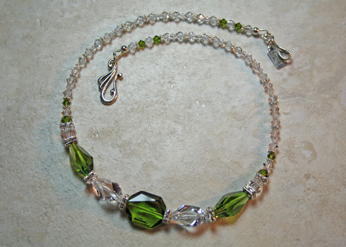 Peridot Swarovski Crystal Necklace
