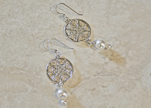 Sterling Silver Scrollwork Earrings