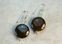 Wood Jasper Sterling Silver Handmade Earrings