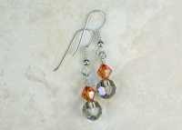 Crystal Copper Swarovski Earrings