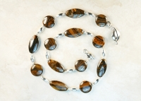 Wood Jasper Sterling Silver Handmade Necklace