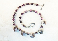 Lavendar Botswana Agate Sterling Silver Necklace