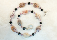 Purple Crazy Lace Agate Sterling Silver Necklace