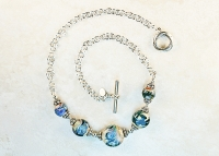 Borosilicate Lampwork Handmade Sterling Silver Necklace