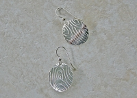 Patterned Sterling Silver Round Earrings
