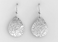 Sterling Floral Teardrop Earrings