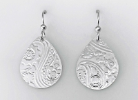 Sterling Silver Paisley Teardrop Earrings