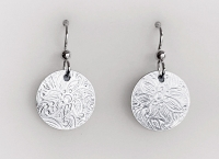 Small Sterling Silver Floral Earrings